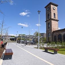 External furniture for Clydeside Distillery
