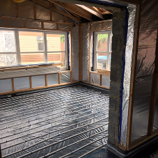 Underfloor heating for a new build in Bishop Auckland