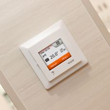 Smart thermostat enhances underfloor heating system