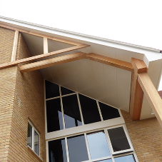 Guttercrest moulded ogee specified for care homes