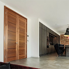 American black walnut doors for North London home
