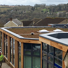 Spectraplan single ply roof system at Chalford Hill