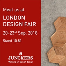 Junckers to exhibit at London Design Fair 2018