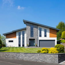 Cedar cladding provides warmth to modern self-build