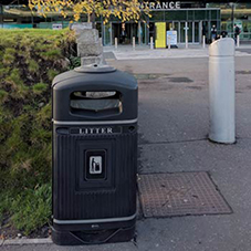 Litter & recycling bins at Belfast City Airport