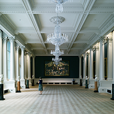 Herringbone floor at the National Gallery of Ireland