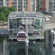 Flag TPO waterproofing for Thames cable cars