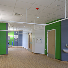 Vinyl flooring products at North Middlesex Hospital