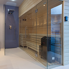Modern sauna for new build home