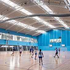 Professional sports flooring at Oriam Scotland