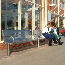 Stainless steel street furniture for Morrisons supermarkets