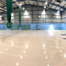 Liquid floor screed for leisure centre refurbishment