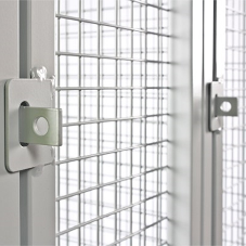 Industrial wire mesh lockers from Total Locker