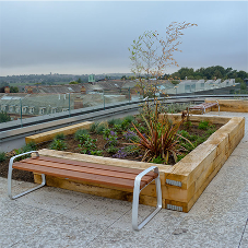 Artform Urban street furniture range for Edge Hill Library roof terrace