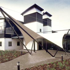 Architectural polyester used for canopy at  Imperial House