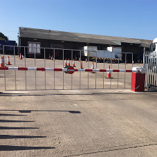 Automatic rising barrier for Ryder Group Alrewas