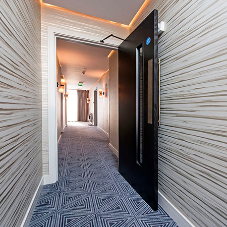 Bespoke herringbone doors for Southend seafront hotel