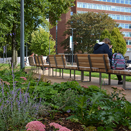 Outdoor furniture for The University of Manchester