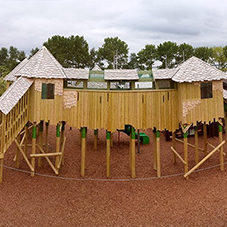 Timber playground at Vauxhall Holiday Park