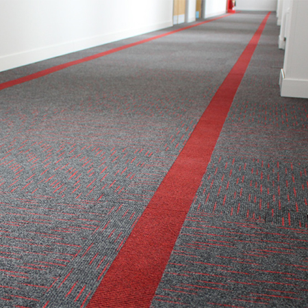 Rawson carpet tile for Chester University