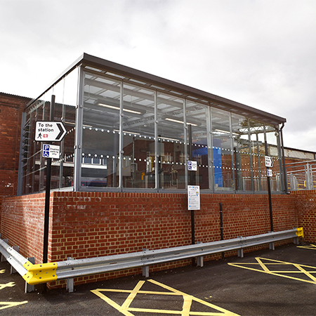 Ticketing shelter booth for Gloucester Railway Station