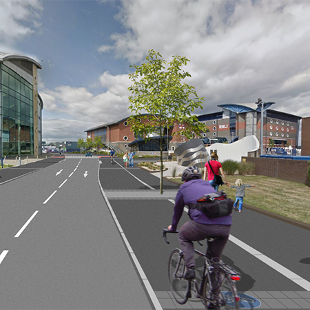 Cycle kerb for Poole's Townside Access scheme