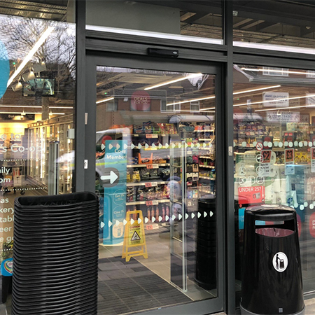 An easy entrance for Co-op customers