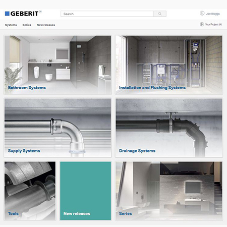 Geberit updates online product catalogue