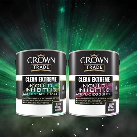 Crown Trade Paints release mould inhibiting paint