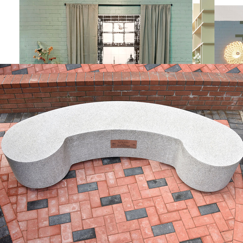 Celebratory bench for St James's University Hospital