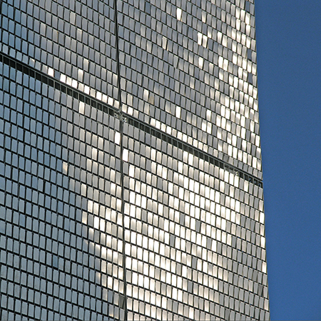 Shimmering Stereo-kinetic façade for Ocean Terminal Shopping Centre