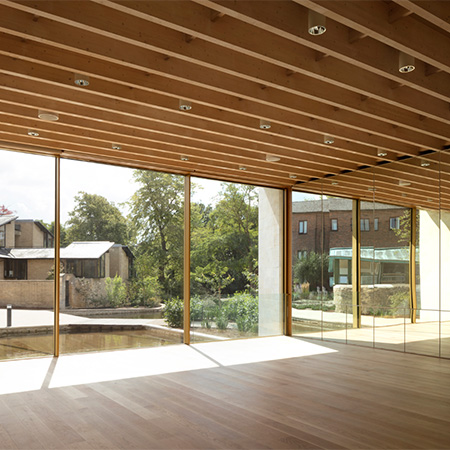 Oak Boulevard flooring for Worcester College