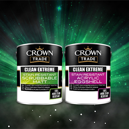 Clean Extreme Stain Resistant Scrubbable paint reduces maintenance