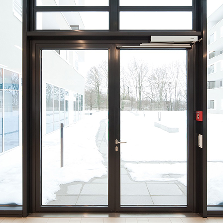 Expected winter whiteout means doors should be checked
