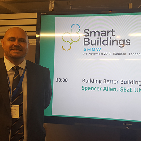 GEZE talk at the Smart Building Show in London