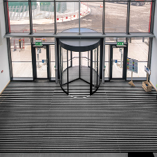 Hardwearing & aesthetic flooring solution for train depot
