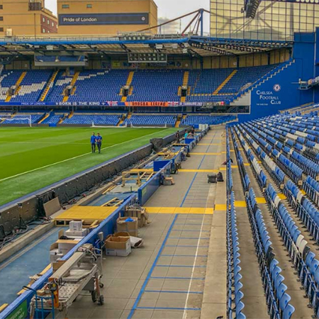 DPH pedestal system for Chelsea Football Club