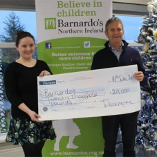 Tobermore donate £20K to Barnardo's Christmas Appeal
