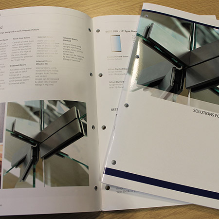 GEZE UK unveil SGG solutions for Toughened Glass brochure