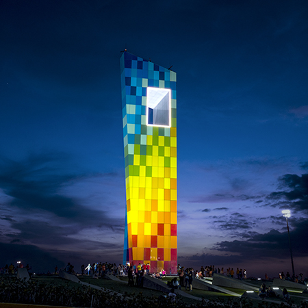 SentryGlas® interlayers for vibrant multi-coloured monument