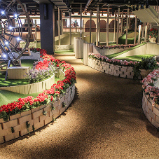 Flowcrete flooring solution at boutique crazy golf course