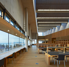 Junckers wood flooring used in award-wining library