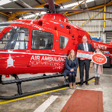 Geberit helped raise money for the Northern Ireland Air Ambulance