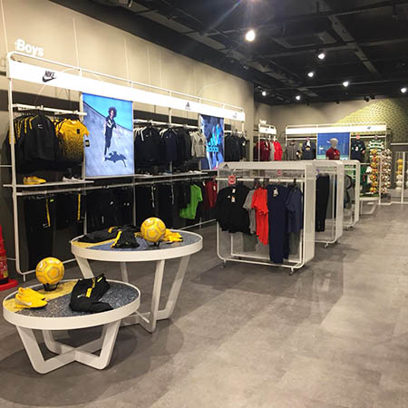 Stylish Expona flooring for Irish sports store