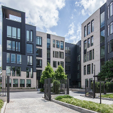 Lightweight natural slate cladding for luxury apartments