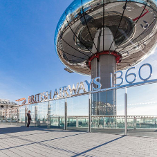 Tobermore hard landscaping specified at British Airways i360