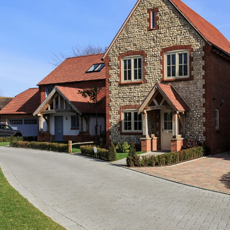 Permeable paving for Junnell Homes in West Sussex