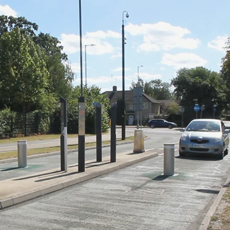 Automatic retractable bollards keep university area safe