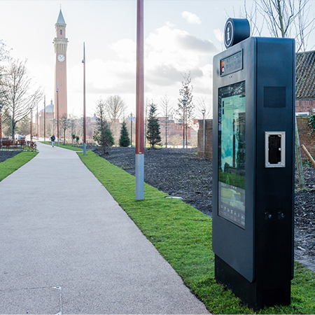 Handy digital signs for the University of Birmingham