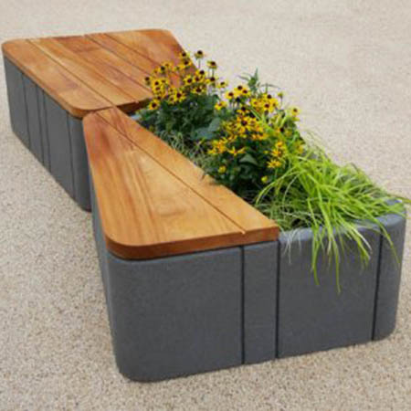 Furnitubes launch modern Uniun® combined seating & planters